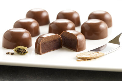Cardamom Ganache and Almond Butter Chocolate Domes